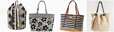 Arizona Audrey Duffle Backpack $36.00 (regular $60.00)  Vera Bradley Grand Tote $45.50 (regular $65.00)  Dana Buchman Striped Canvas & Straw Tote $47.40 (regular $79.00)  Urban Outfitters Ecote Textured Weave Tote Bag $54.99 (regular $69.00)