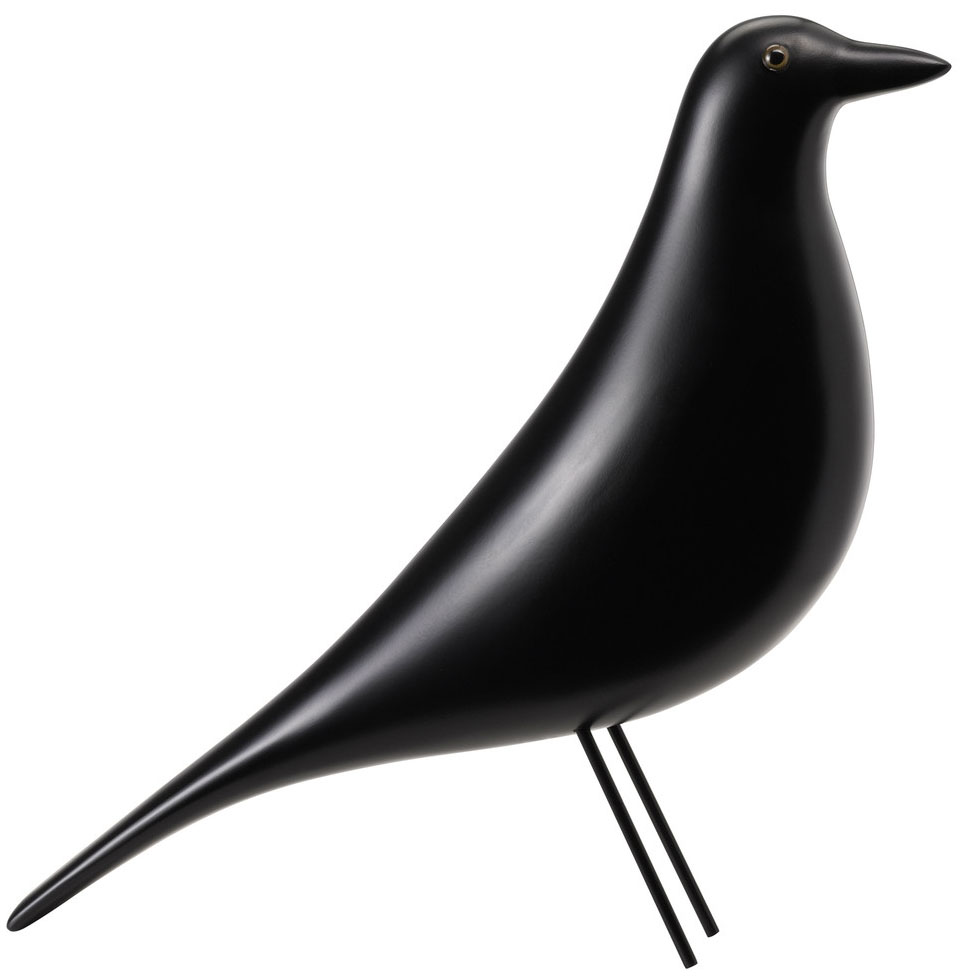 unseen vitra eames house bird decorative 1950s figurine modern eames bird color black. Black Bedroom Furniture Sets. Home Design Ideas