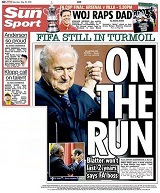 Sepp Blatter's re-election dominates the back pages of the papers, including the Sun