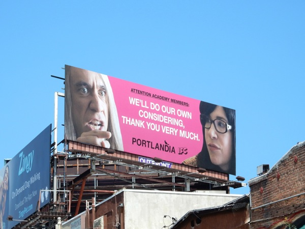 Portlandia We'll do our own considering Emmy 2015 billboard