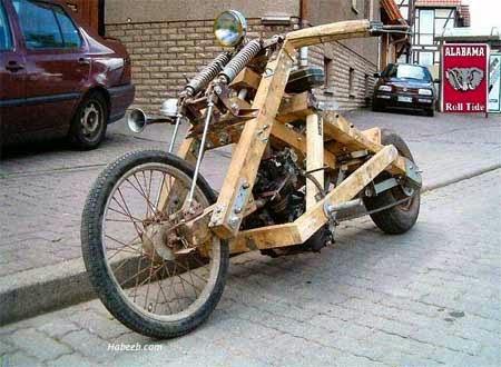 modifikasi motor ukuran gede bahan kayu