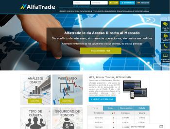 sitio web de Alfatrade
