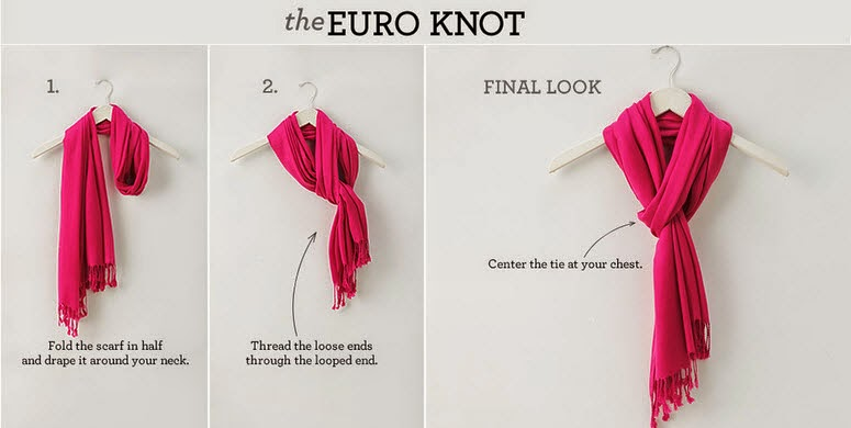How to tie a scarf in a euro knot