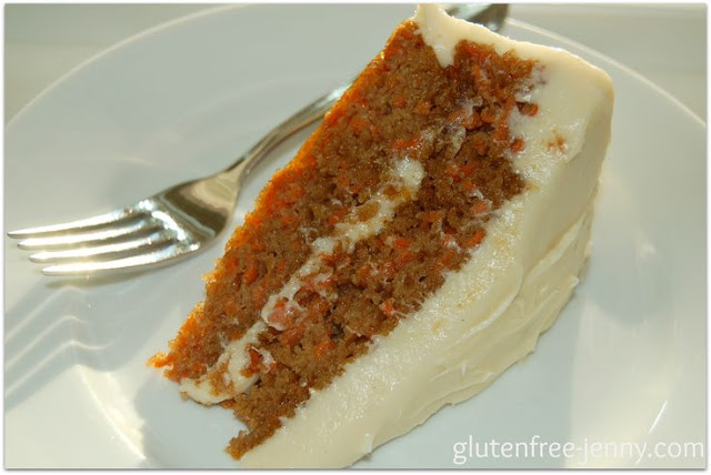 Gluten Free Carrot Cake from Gluten Free Jenny and more of the best carrot cake recipes on MyNaturalFamily.com #carrotcake #recipe