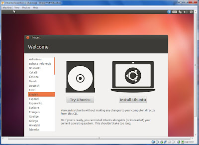 installing ubuntu with virtual box