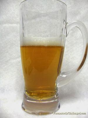 Notice the foam after half a beer