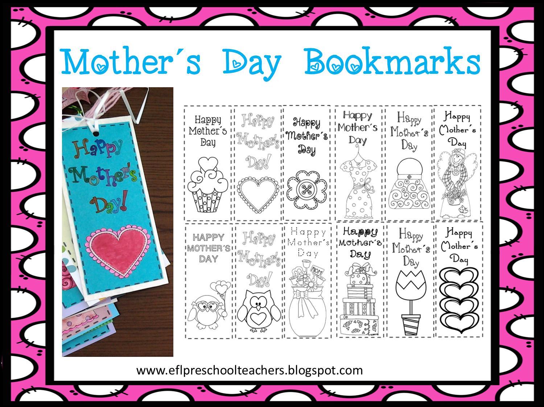 Esl efl preschool teachers mother s day activities for for Mother s day activities for preschoolers
