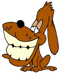HD Animals: cartoon dog smiling