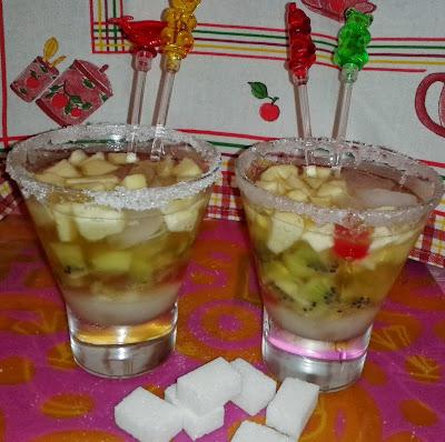 Refresco de Champán con Frutas