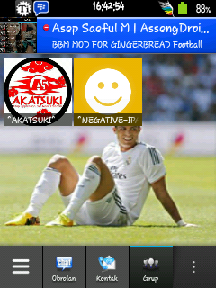 BBM Gingerbread Real Madrid APK