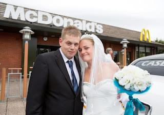 Newlyweds Host Reception at Mcdonalds