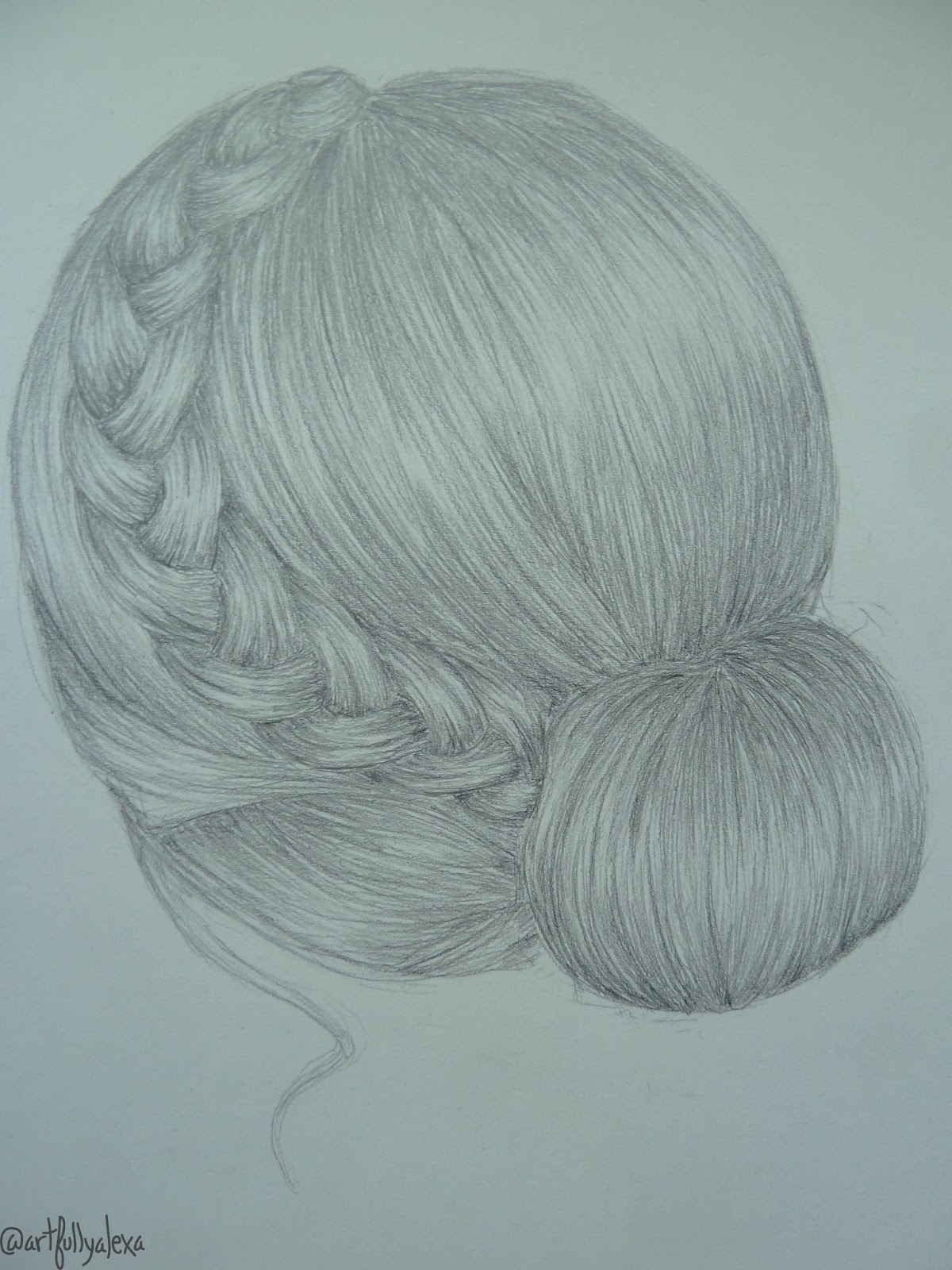 Artfully Alexa How To Draw A Braided Bun