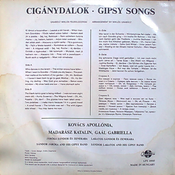 Apollónia Kovács Gipsy Songs