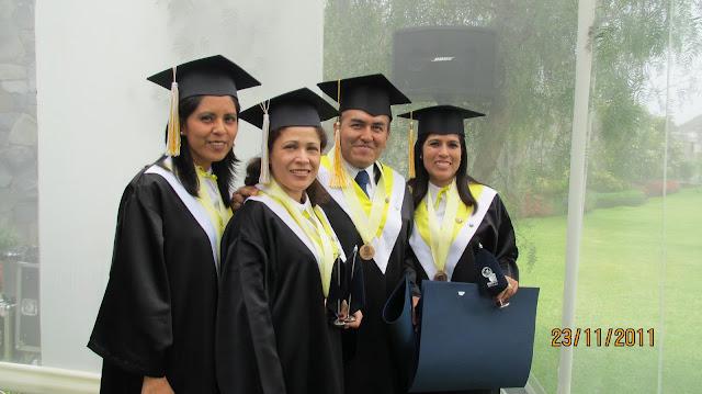 GRADUACION PARA OBTAR EL TITULO DE MBA DEL ING° EDUARDO H. CASTRO MACHA  EN EL CENTRUM DE LA  PUCP.