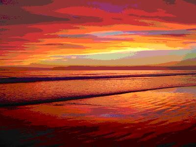 Educacion visual cuarto a o color parte 2 - Paisaje con colores calidos ...