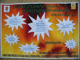 SAN  JUAN SUA - LESAKA - FUEGO DE SAN JUAN