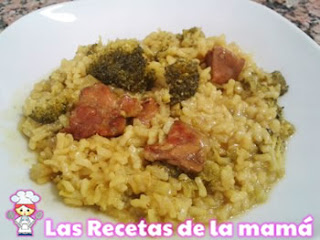 arroz con brócoli y magro