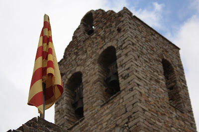 Catalan flag in Castellar de N'Hug