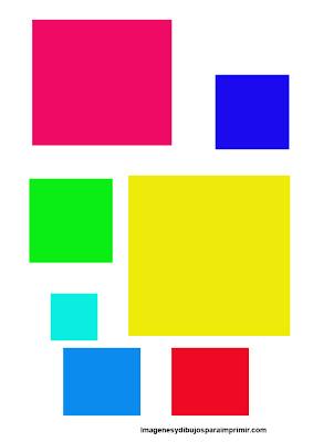 Dibujos de cuadrados para imprimir