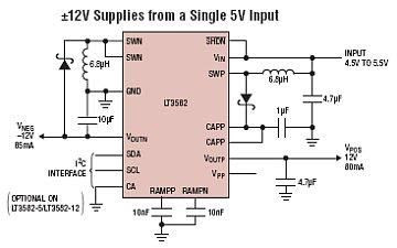 Build a LT3582-12 DC 5V to 12V DC Converter