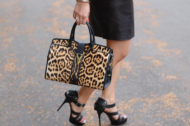 Leopard Saint Laurent Cabas Chyc tote