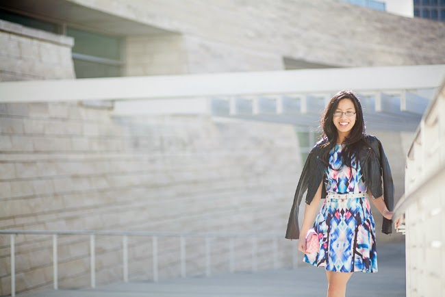 fit and flare silhouette dress colorful spring summer