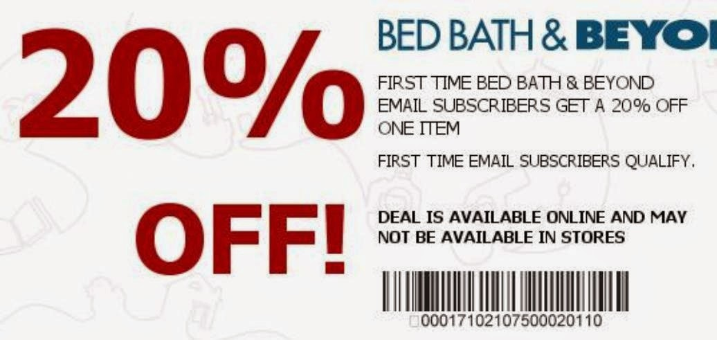 Bed bath and beyond coupon online code