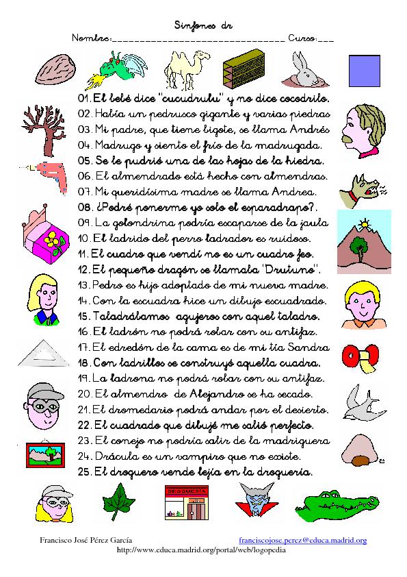 Palabras En Ingles Para Ninos De Kinder