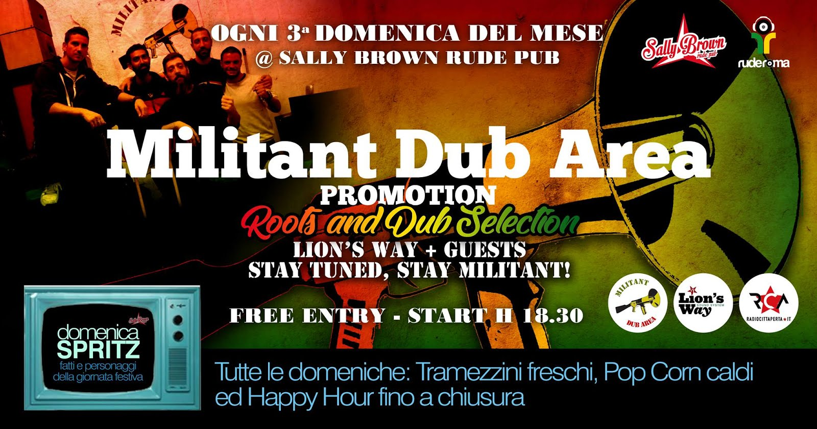 NEXT LION'S WAY/MILITANT DUB AREA EVENTS