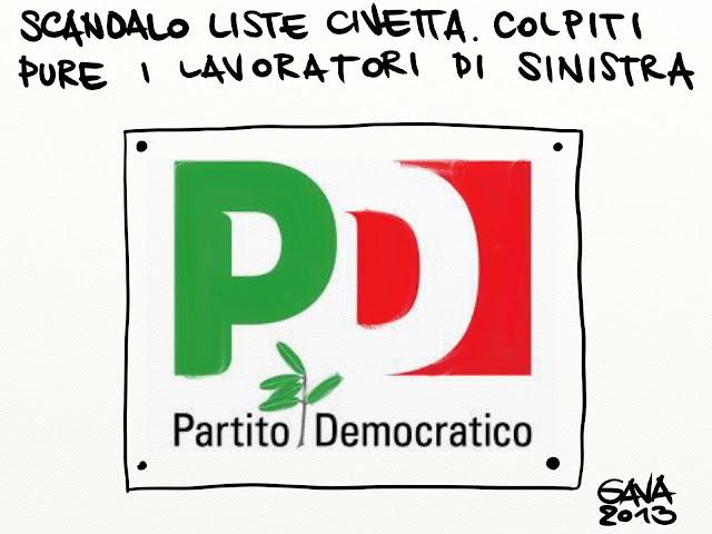 gava gavavenezia satira vignette pd liste civetta monti grillo ulivo brogli bersani parlamento senato roma politica imbroglio