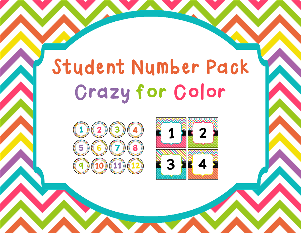 http://www.teacherspayteachers.com/Product/Student-Number-Pack-in-Crazy-for-Color-1314765