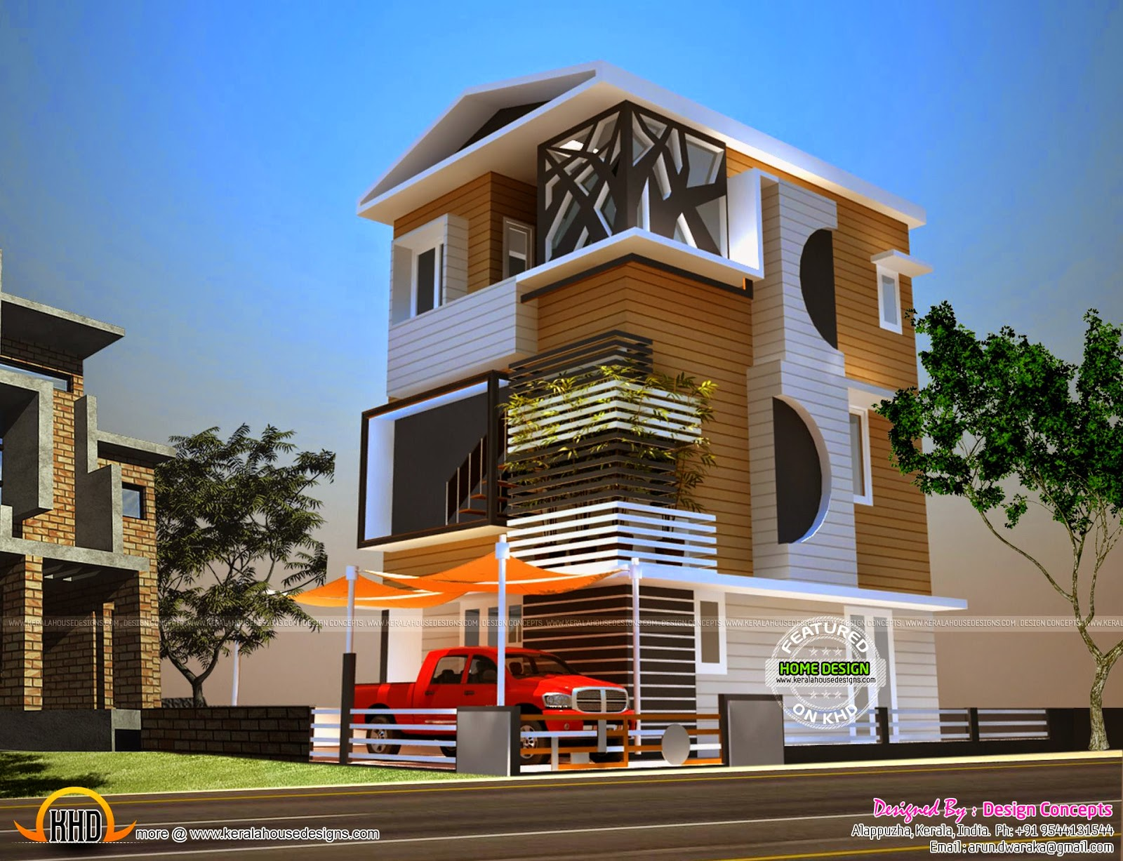 2 cents house plan kerala home design and floor plans for Two level house design