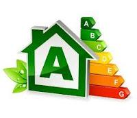 Etiqueta clasificación energética vivienda o edificio.
