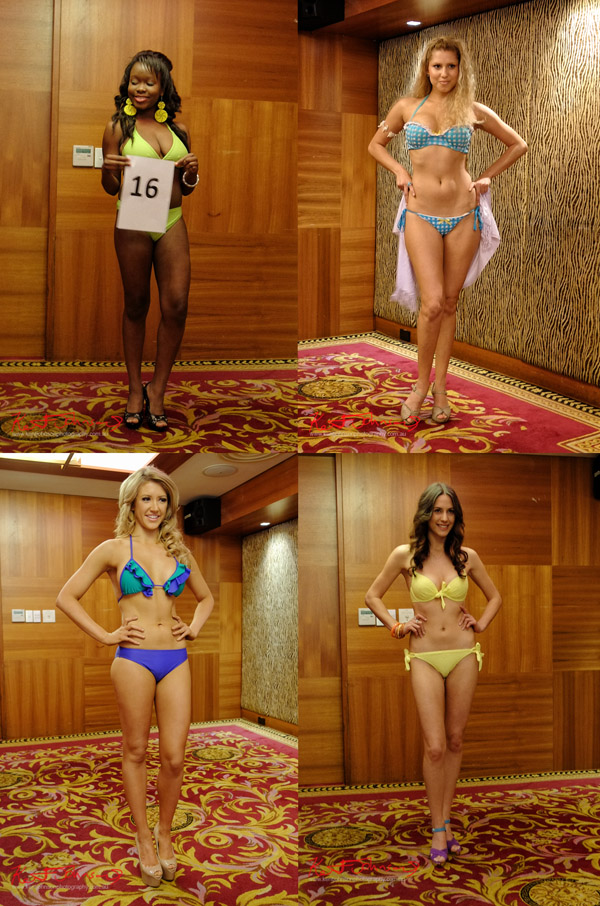 Bikini Stage - Michelle Paul, Ayeshah Rose, Elise Duncan, Amy Celisano, Miss Earth Australia - Behind The Scenes 2012