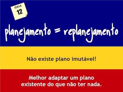 planejamento = replanejamento