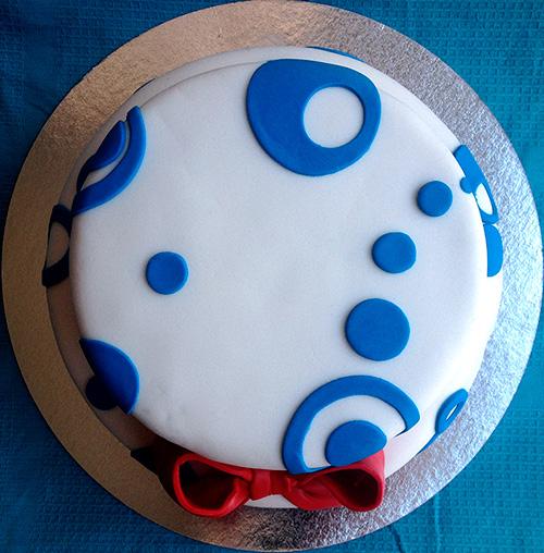 tarta fondant dos pisos