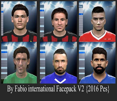 PES 2016 international Facepack V2 By Fabio