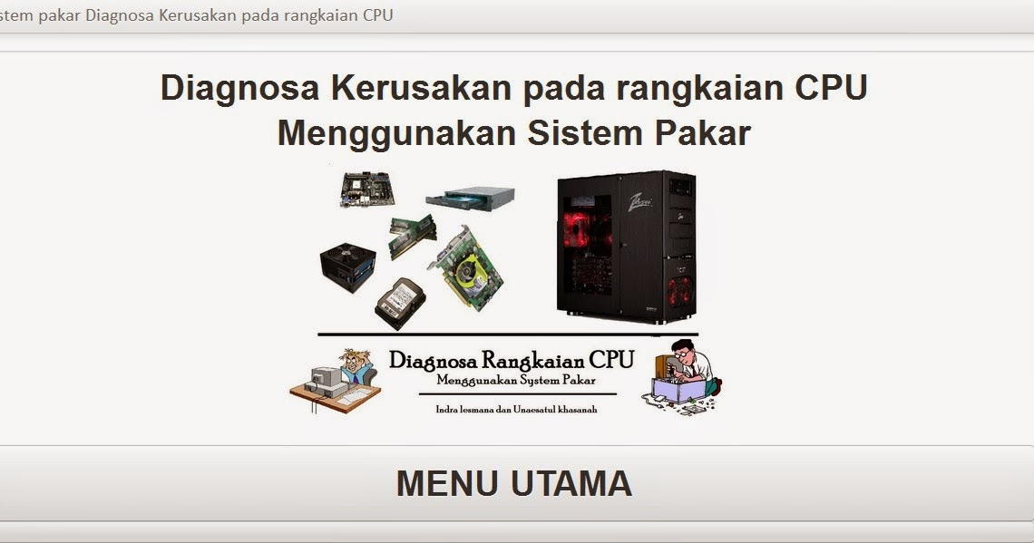Program Sistem Pakar Diagnosis Kerusakan Komputer Web ...
