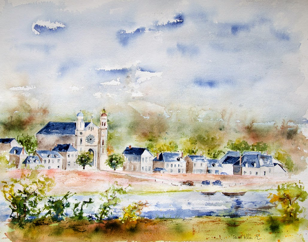 watercolor loire valley