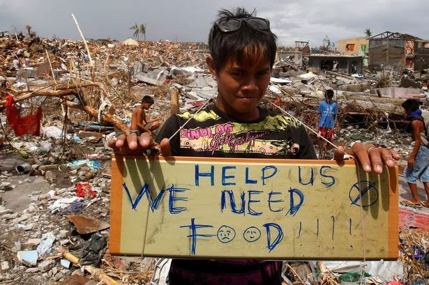 supports victims of  typhoon haiyan
