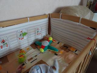 Бортики с аппликацией на кроватку