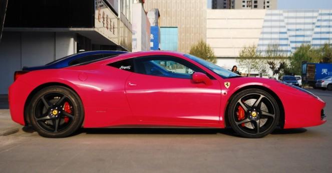 Properly Hot Pink Ferrari 458 Italia In China