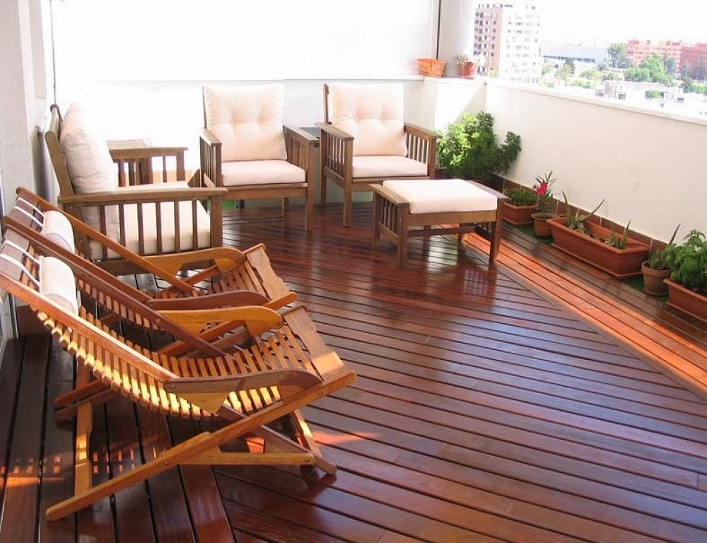 decorar una terraza moderna en madera