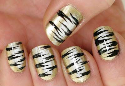 Tiger Nails Art