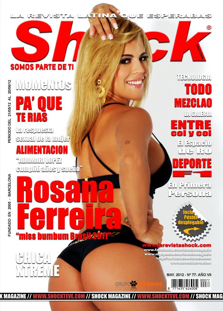 Rosana Ferreira, Miss Bumbum Brasil 2011, capa da edição de maio da Shock Magazine