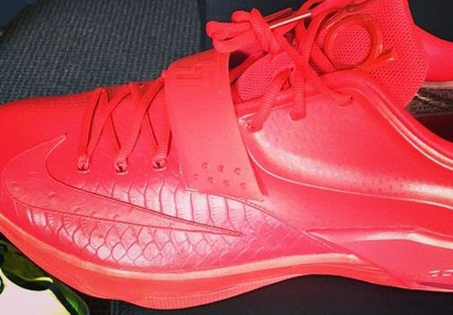 THE SNEAKER ADDICT: Nike KD 7 All Red Python/Ostrich ...