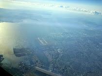 Looking down on Tokyo's Haneda airport