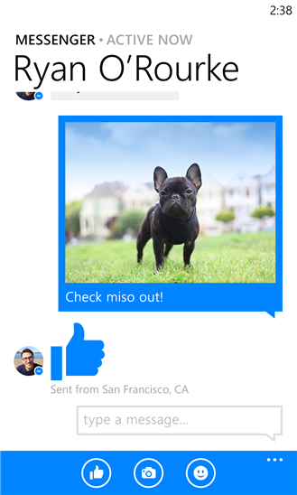 Facebook Messenger for Windows Phone 8