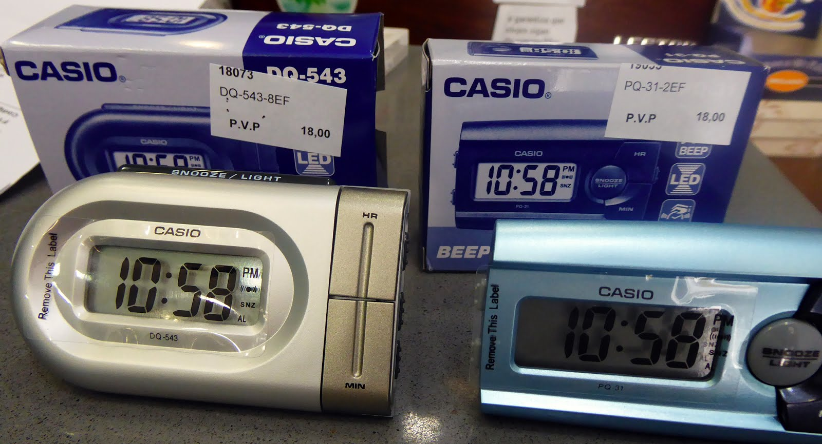 Despertadores digitales Casio