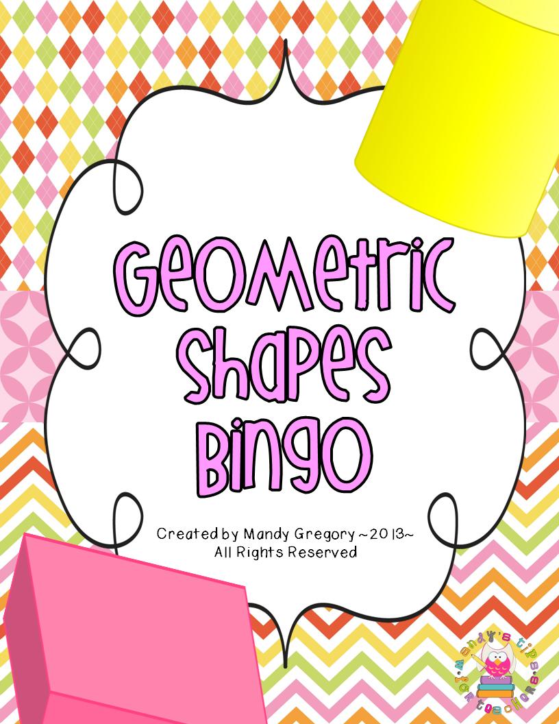 Mandy s tips for teacher s geometric shapes bingo